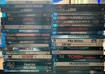 Lot of 37 Blu-Ray Movies DVD Transformers Avatar X-Men Wolverine Star Trek