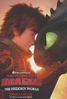How to Train Your Dragon: The Hidden World ORIGINAL D/S 48x70 BUS SHELTER Poster
