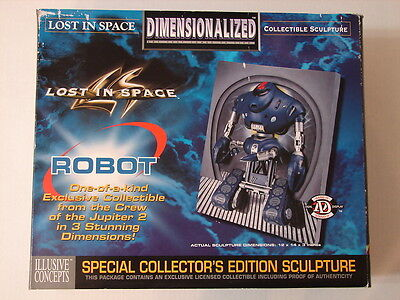Lost In Space 3-D Robot Wall Table Sculpture 1998 Jupiter 2 Rare Nib