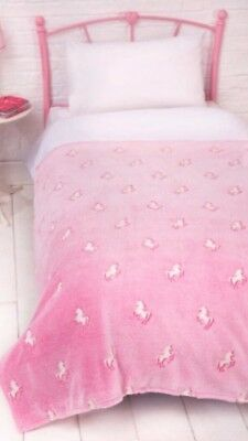 """100/% POLYESTER /""""GLOW IN THE DARK/"""" COZY SUPER SOFT BED BLANKET THROW 140 x 180cm"""