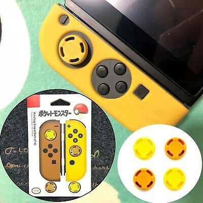 Thumb Button Caps Lets Go Pokemon Pikachu for Nintendo Switch Joy-con Yellow New