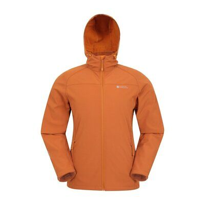 Mountain Warehouse Mens Softshell Jacket with Windproof and Water Resistant