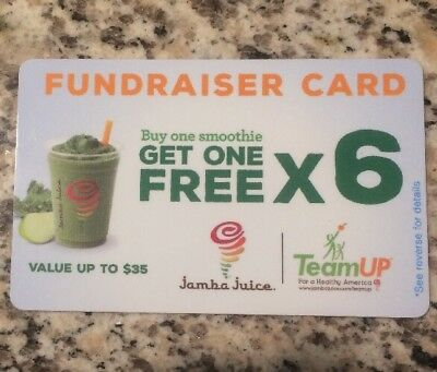 LOT OF Three (3) - Jamba Juice BOGO Cards (6 BOGOs per card)