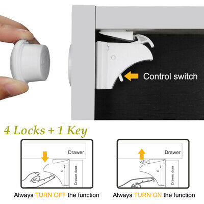 1 Set Magnetic Invisible Cabinet Locks Baby Safety Protection Cupboard Drawer