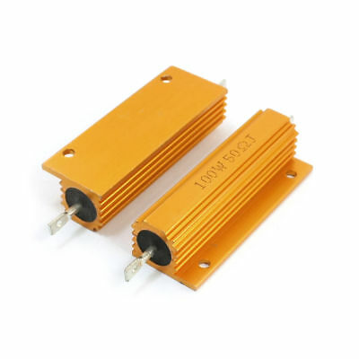 H● 2* 100W 50ohm Resistance Aluminum Chassis MountedWirewound Resist.