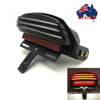 Tri-Bar Fender LED Rear Tail Light Lamp For Harley FXSTC FXSTS FLSTSB FXSTB FT