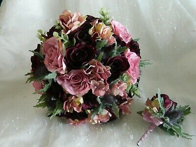 Wedding Flowers wedding thistle Bouquet Bride Bridesmaid posy Flower Girl