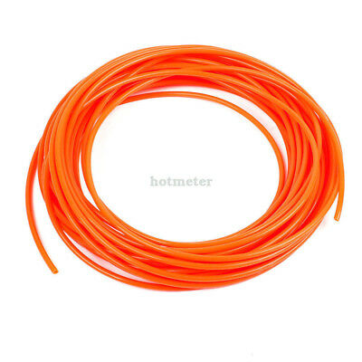 H● Orange 4mm OD 2.5mm ID 15 Meter 49.2Ft Pneumatic PU Air Tube Hose.