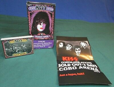 2009 Kiss Series Tour Trading Card Blaster Box 2 of 3 & Poster – Factory Sealed