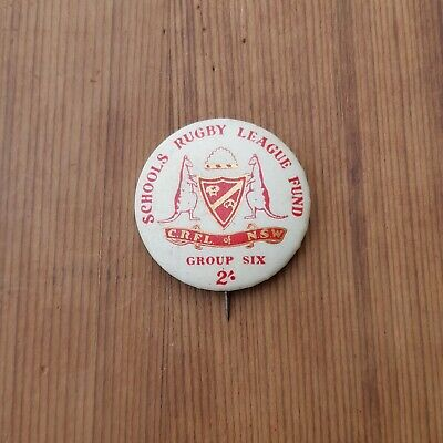 Vintage Badge Schools Rugby League Fund Group Six C.r.f.l Of Nsw