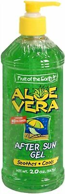 Fruit of the Earth Aloe Vera After Sun Gel Alcohol Free 20 Ounce, 3 Pack