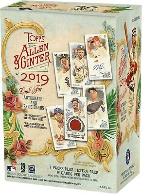 2019 Topps Allen & Ginter Baseball Factory Sealed 8 Pack Blaster Box - Fanatics