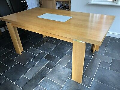Remarkable John Lewis 4 Seater Oak And Glass Dining Table Chairs Theyellowbook Wood Chair Design Ideas Theyellowbookinfo