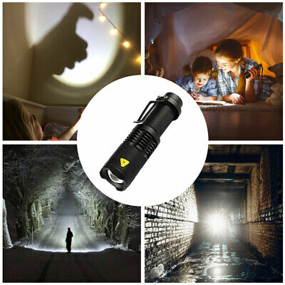 Pocket Torch LED Mini Flashlight Zoomable Inspection Lumens