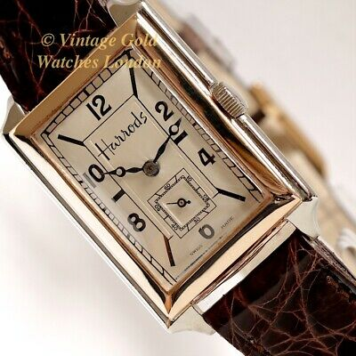 Harrods 9Ct Yellow & White Gold, 1928 Dress Watch - Most Elegant And Immaculate!