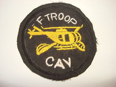Nam War US F Troop CAVALRY Helicopter Hand Sewn Patch
