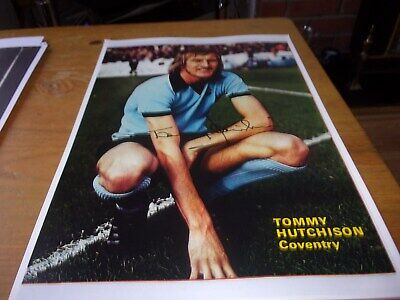 Autographed Magazine Picture Tommy Hutchinson  Coventey Ciry