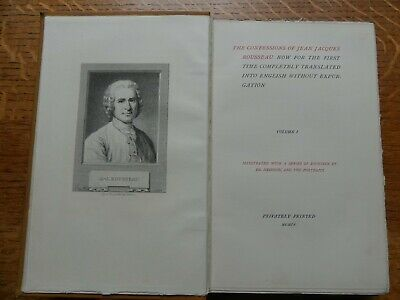 The Confessions of Jean Jacques Rousseau 1904 Etchings by Ed. Hedouin & Portrait