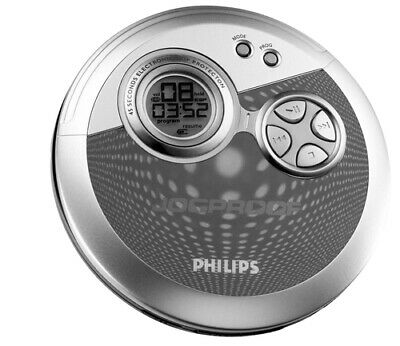 Philips AX3300 CD player Portable Blue Silver