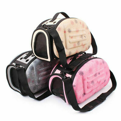 Portable Pet Small Dog Cat Sided Carrier Travel Totes Shoulder Bag Cage Kennel