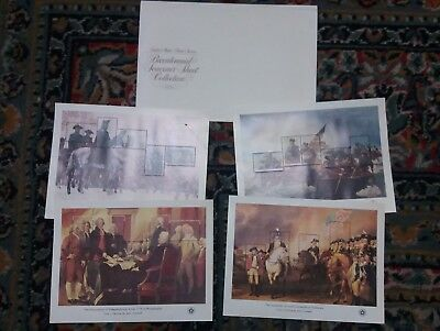 USA, Scott # 1686-1689, COMPLETE SET OF 4 SHEETS - AMERICAN BICENTENNIAL ISSUES