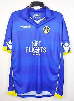 LEEDS UNITED Away Jersey Adult UK XL Men's Shirt 2010 2011 Macron Trikot EU XXL