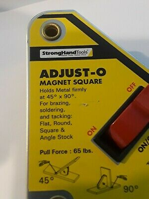 Strong Hand Tools, Adjust-O Welding Magnet Squares with On / Off Switch.MSA45