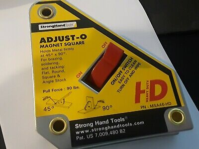 Strong Hand Tools, Adjust-O Welding Magnet Squares with On / Off Switch.MSA46-HD