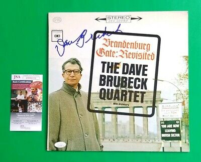 Dave Brubeck Signed Old Vintage Lp Album Certified Authentic With Jsa Coa