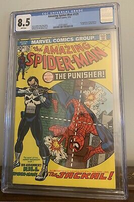 The Amazing Spider-Man #129 (Feb 1974, Marvel) WHITE! pgs