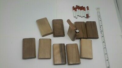 Lot of 100 slide top wood Dugout With one hitter bat pipe walnut