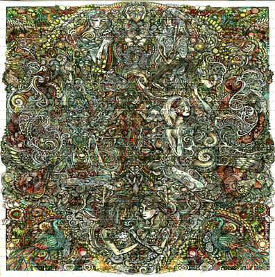 EVERYTHING BLOTTER ART perforated sheet paper psychedelic art