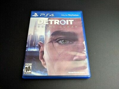 Detroit Become Human Sony Playstation 4 PS4 LN PERFECT condition COMPLETE!