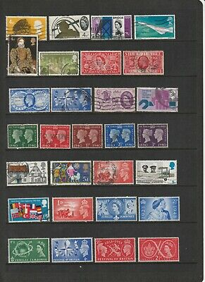 Great Britain - Pr-Decimal Pictorials Mint and Used   3 SCANS (2104)