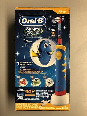 FINDING DORY Kids Toothbrush Oral-B Electric Rechargeable Stages Power Braun NEW
