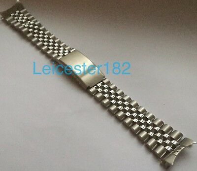 20mm 22mm RLX Seiko Jubilee Style Watch Bracelet With Curved End Links Jubilee