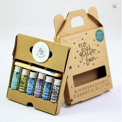 Eco Glitter Fun - Boxed Sky kit of biodegradable glitter - Festival Makeup Pots