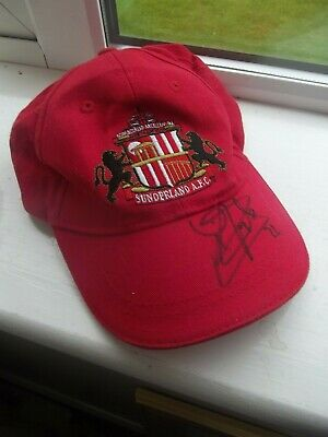 Official Sunderland Fc Baseball Cap  Signed  Unknown  Need Help  Fine Look  Sr6