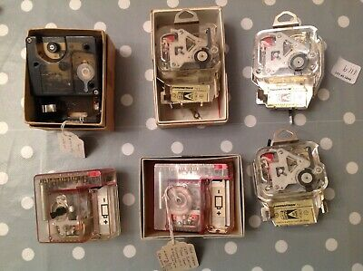 Vintage Electric Battery Clock Movements Part Of Specialist Collection untested