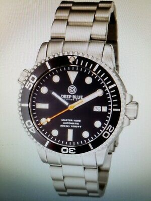 DEEP BLUE MASTER 1000/300FT AUTOMATIC BLACK/ORG SEC/HAND/BEZEL BLACK(free gift)