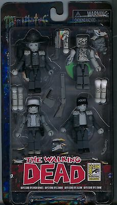 The Walking Dead SDCC 2014 Exclusive Minimates Days Gone Bye B/W Boxed Set MINT