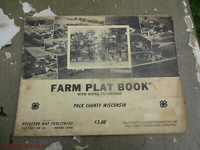 Land ATLAS & PLAT BOOK POLK COUNTY index to OWNERS WISCONSIN MAPS towns 1950S