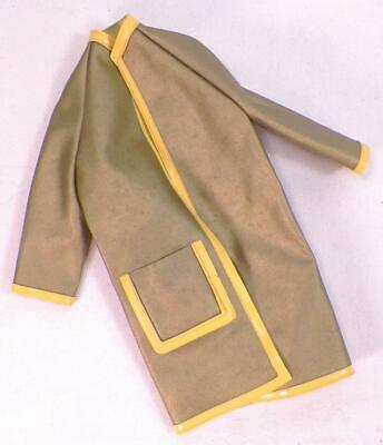 Maddie Mod Fashion Doll Raincoat Olive Green Yellow Gold Barbie Clone Vintage