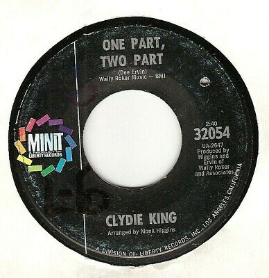 45Rpm, Clydie King ' One Part, Two Part ' Vg Or Better ' Northern Soul '