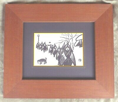 1940's Gihachiro Okuyama Children In Snow Country Japanese Woodblock Print Mint
