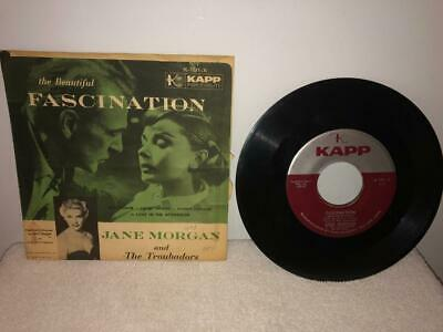 """Vintage Jane Morgan & The Troubadors """"Love In The Afternoon"""" 7"""" Single Record"""