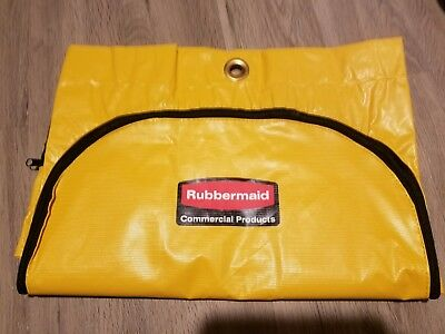 Brand New Rubbermaid 21 Gal. Zippered Vinyl Cleaning Cart Bag (Yellow) 1966719