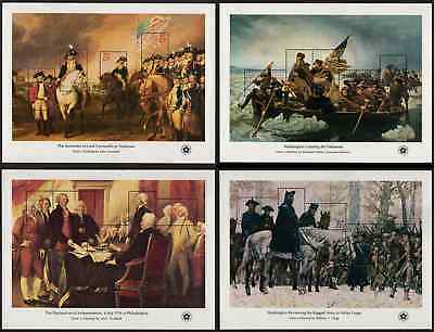USA, Scott # 1686-1689, FULL SET OF 4 SHEETS - AMERICAN BICENTENNIAL ISSUES, MNH