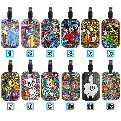 Princess Marie Cat Alice Tangled Wood Travel Luggage Baggage Tag Suitcase Bag