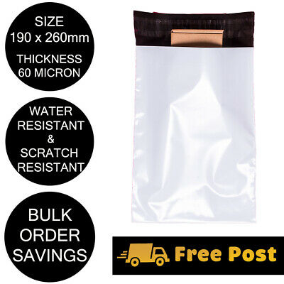 Poly Mailer 190x260mm Courier Bag Plastic Self Sealing Shipping Mailing Satchel